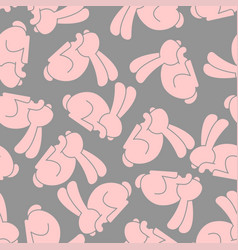pink rabbit seamless pattern hare ornament bunny vector image
