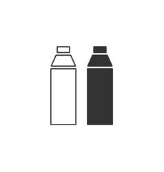 plastic bottle icon flat vector image