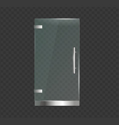 realistic 3d detailed glass door on a transparent vector image