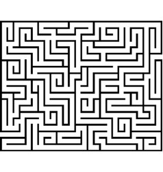 Rectangle maze isolated vector
