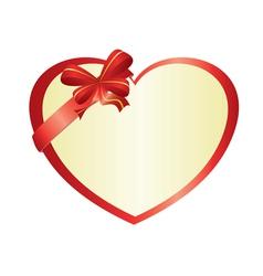 Red heart with bow-knot vector