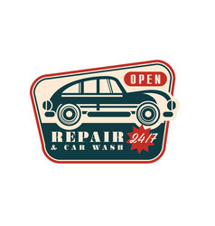 repair and car wash logo open 24 7 auto service vector image
