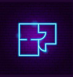 room plan neon sign vector image