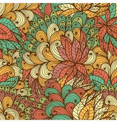 Seamless floral vintage fantasy pattern vector