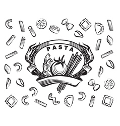 set of pasta vector image