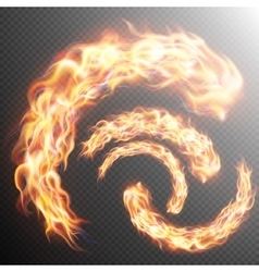 Set of realistic fire flames EPS 10 vector