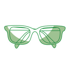 shadow glasses cartoon vector image