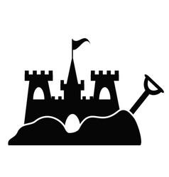 simple sand castle icon vector image