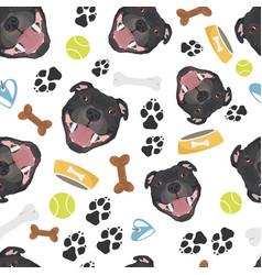 smiling dog staffordshire bull terrier vector image