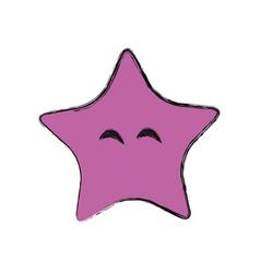 Star cute cartoon vector