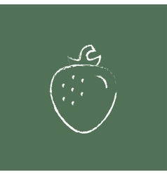 Strawberry icon drawn in chalk vector