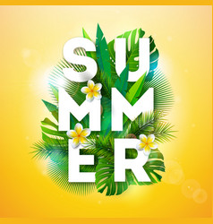 summer holiday with typography vector image