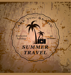 summer travel emblem vector image