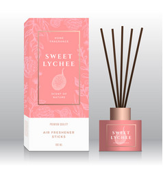 Sweet lychee home fragrance sticks abstract vector