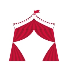 tent icon Circus and carnival design vector image