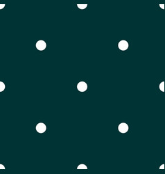 Tile pattern with white polka dots on dark green vector