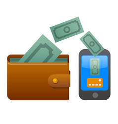 transfer money vector image