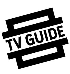 Tv guide black stamp vector