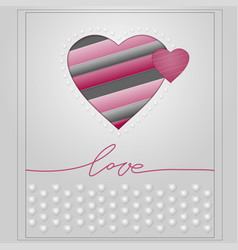 valentines day card-3 vector image