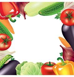 Vegetables frame vector