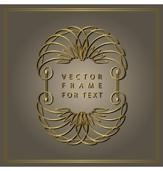 Vintage Calligraphic Gold frame Modern Swirl vector image