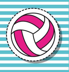 Volleyball ball sport patch design vector