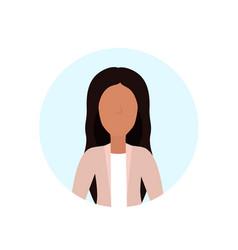 Woman avatar isolated faceless female cartoon vector