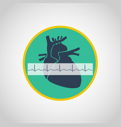 an electrocardiogram logo icon design vector image