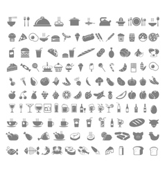 Food and beverages icons vector image