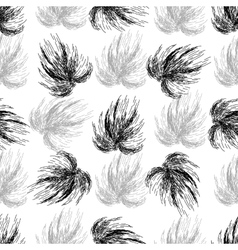 Hand drawn seamless black and white background vector image