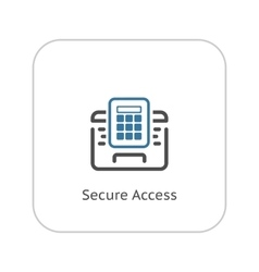 Secured Access Icon Flat Design vector image vector image