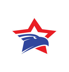 star eagle logo vector image