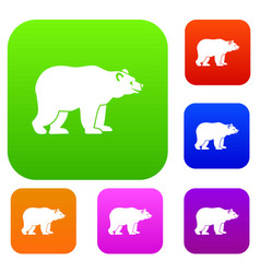 bear set collection vector image
