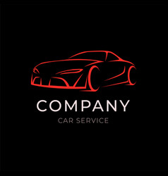 car service company logo with sport vehicle vector image vector image