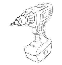 Cartoon image of carton power drill vector