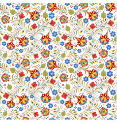 russian floral ornament vector image vector image