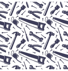 Seamless pattern with different tools vector image vector image