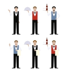 Set of Waiters vector image