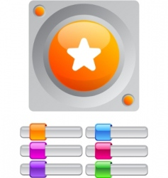 star color round button vector image