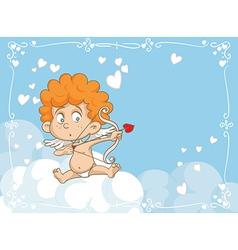 Cupid Shooting Love Arrows Cartoon vector image