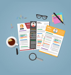 workplace for recruitment vector image vector image