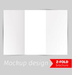 z-fold brochure mockup design vector image