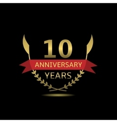 10 Anniversary years vector