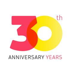 30 anniversary years logo vector