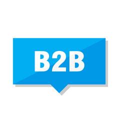 b2b price tag vector image