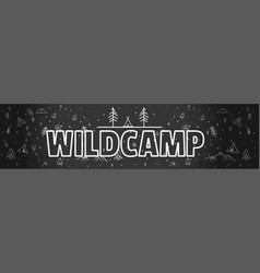 black and white hand drawn typography banner vector image