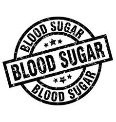Blood sugar round grunge black stamp vector