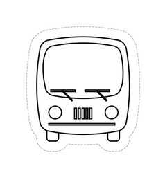 bus vehicle icon vector image