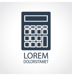 Calculator dark flat icon vector