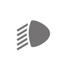 Car low beam icon vector